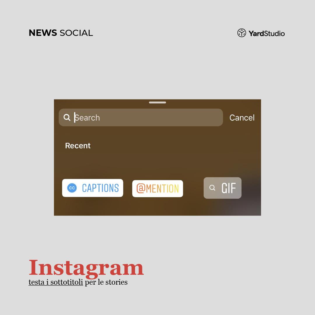 Instagram testa i sottotitoli nelle Stories